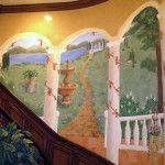 Curved Staircase Mural