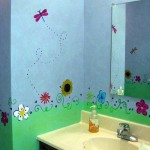 Decorative Painting Girls Bathroom