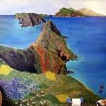 Anacapa Island Mural in Guest Bath