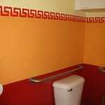 Boys Bathroom Decorative Painting