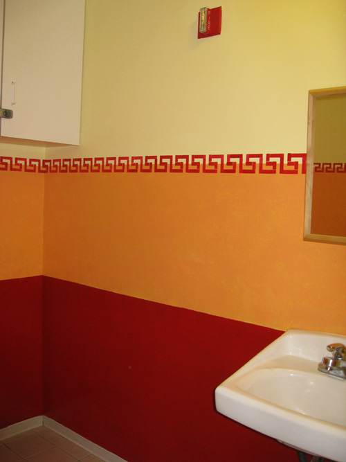 Private School Boys bathroom Decorative Painting