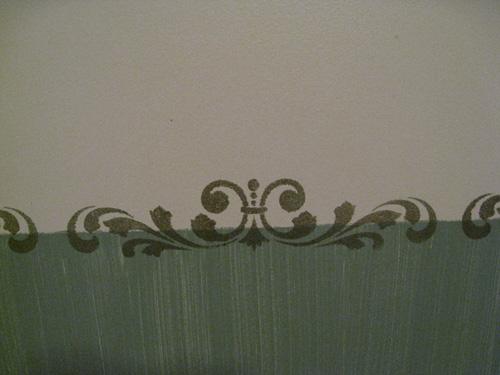 Green Rm Stencil Detail