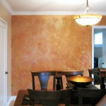 Dining Room Accent wall Faux Finish