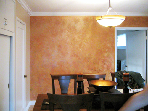 Accent Wall in the Dining Room