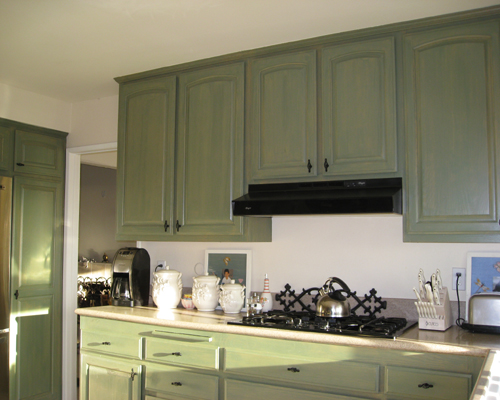 Kitchen Makeover Faux Finish Paint