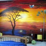 African Sunset Mural (Video)