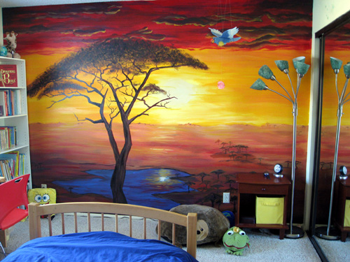 African Mural painting