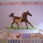 Horse Mural in Babies Room